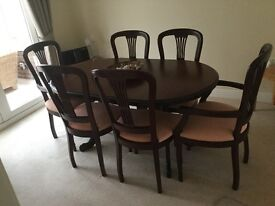 Dinning Table and Chairs by Rossmore