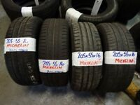 MATCHING SET of 205 55 16 michelins 6mm tread £50 PAIR £90 SET SUP & FITD (loads more av} TXT S