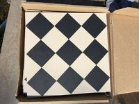 Original Style Harlequin tiles (Black and white)