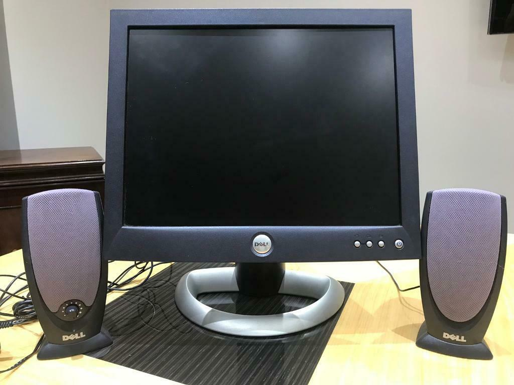 Dell 15 Inch PC Monitor + Dell PC Speakers | in Luton, Bedfordshire |  Gumtree
