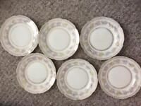 Vintage cake side small plates x 6