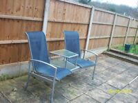 double garden seat and table -FREE collect ng6