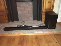 LG Soundbar and Subwoofer - Bluetooth, remote control and optical cable included
