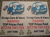 ALL OLD CARS VANS 4X4S WANTED SCRAP CAR AND VAN MAN 07770741153