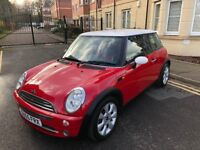 MINI HATCH 1.6 PETROL,6 MONTHS MOT,PART RED LEATHER.