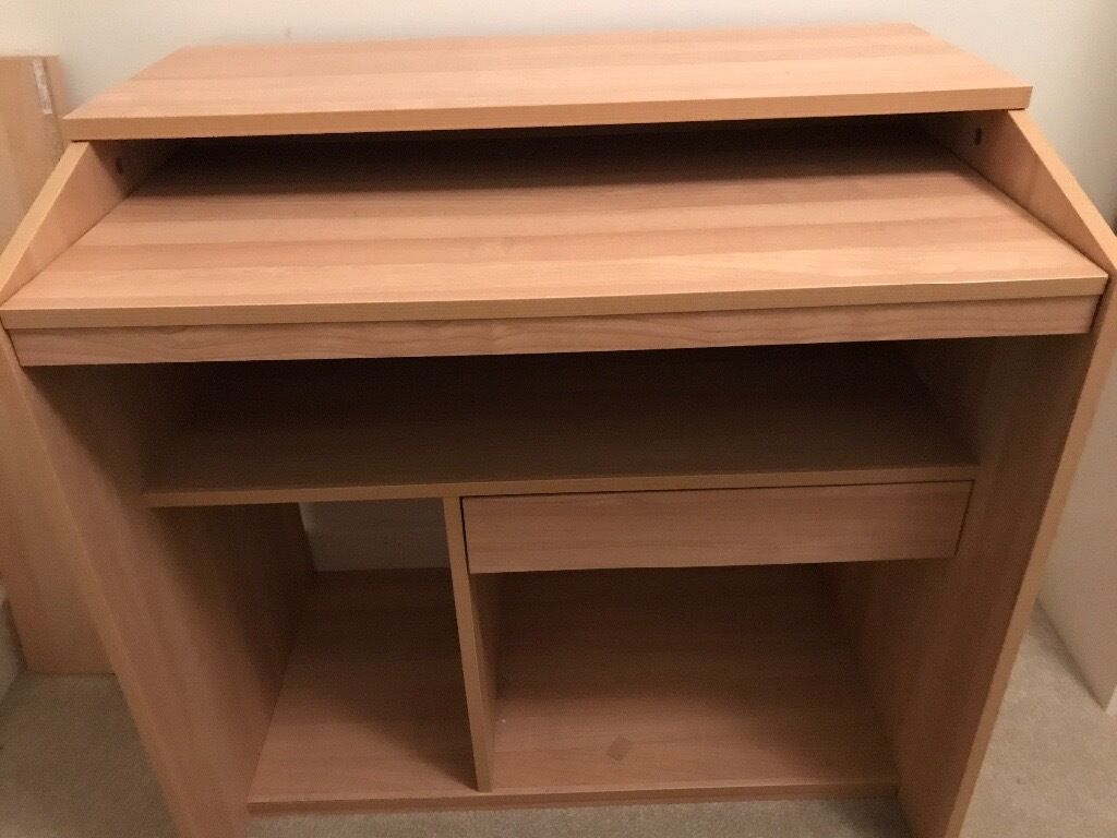 Nearly new wooden computer desk