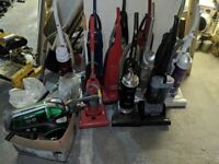 Job lot vacuum cleaners and spares