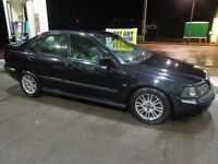 2003 black volvo s40 1.9 diesel with push button start+black leathers+mot+tax+towbar+FREE DELIVERY