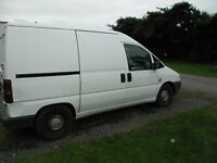 fiat scudo van ready for work