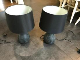 Set of two black mosaic Lamps