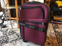 Suitcase hand luggage 4 wheels size 59x35x20cm used good condition £12