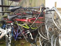 BIG LOT of bike scraps! Frames, wheels, tyres. The WHOLE lot must be collected, no time wasters.