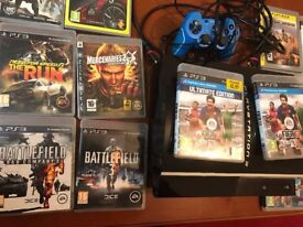 SONY PLAYSTATION PS3 with controller and lot of Games, all cables included with hdmi