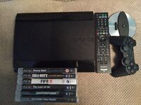 PS3 Super Slim 120gb + Games