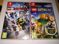 Lego Worlds and Lego Ninjago Videogame (Switch)