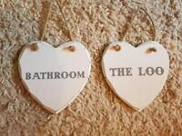 Bathroom and toilet signs