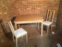 IKEA Bjorkudden Dining Table + 2 Chairs