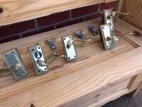 Brass Door Knobs Handles 5 sets