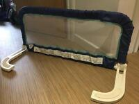 Blue extendable bed guard