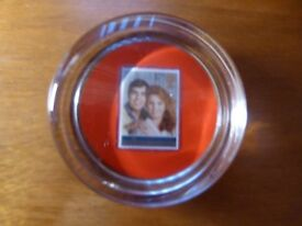 HRH Prince Andrew & Sarah Ferguson July 23rd 1986 Glass Paperweight - NEW IN BOX