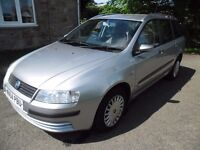 2004 Fiat Stilo 1.6 Estate, 103k miles, Sept MOT, Great load space, New Clutch, Drives perfectly