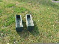 pair of garden planter troughs