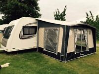 Isabella Magnum Coal 250 Porch Awning - used - a real bargain and decent touring caravan awning