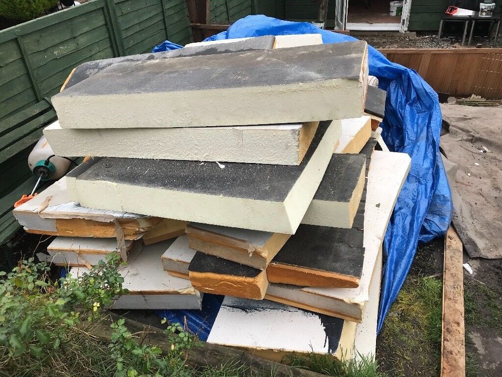 Job lot celotex boards and off cuts, enough for a shed, cabin, camper, roof
