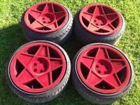 3SDM 0.05 Alloy Wheels 5x100 Staggered Flocked 18inch Bora Golf TT Fabia