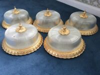 Antique Gold Ceiling Mount Lights (used)