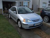 2002 Honda Civic Coupe (12 month MOT) **PRice Drop**