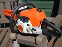 """16"""" BAR STIHL MS 181 CHAINSAW , 2012 model with extra new chain"""