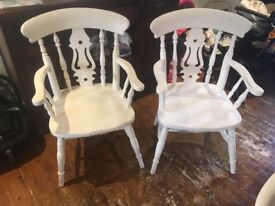 Wooden Dining Chairs /shabby chic