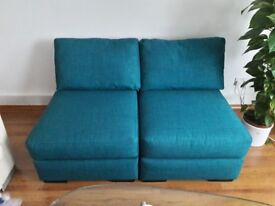 2 x Mortimer a modular chairs in Shadow Teal colour