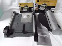 A4 Laminator and Office Trimmer. Both Laminator backloader and Guillotine/rotary trimmer package.