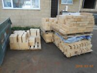 New Bradstone bricks (14 sq-meters cost 1,050 pounds) for sale 200 pounds.