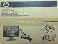"HP w2207h 22"" Widescreen LCD Monitor VGC"