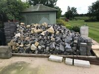 GRANITE COBBLES AND BLOCKS APPROX 12-15 TONNE see details