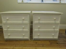 2 of White painted Chests of Draws. Heavy duty built to last. Very good clean condition