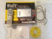 Freeview usb TV receiver hauppage plus remote and usb computer lead