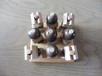 Nought & Crosses - Wooden 3D