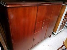 Vintage Mid Century Rosewood Sideboard Cabinet Storage