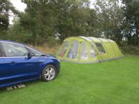 Vango Orava 600xl tent in herbal green with footprint and carpet.