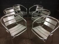 6 as new aluminium garden chairs