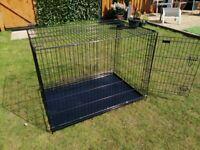 Large black dog crate