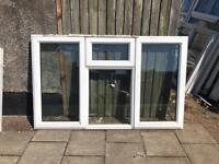 Two Used white Upvc windows
