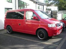 VW T5 TRANSPORTER CAMPERVAN, 88250 MILES WITH FULL SERVICE HISTORY & DRIVEAWAY AWNING.