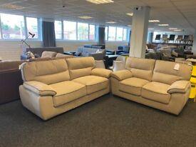 SOFA SALE - Brand New 3 + 2 Sofa Set - Beige (fabric)