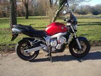 Yamaha Fazer FZ6N, Red, 600cc, 2005, 23000 miles, great condition
