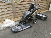 Teutonia offroad buggy with pushchair and carry cot options